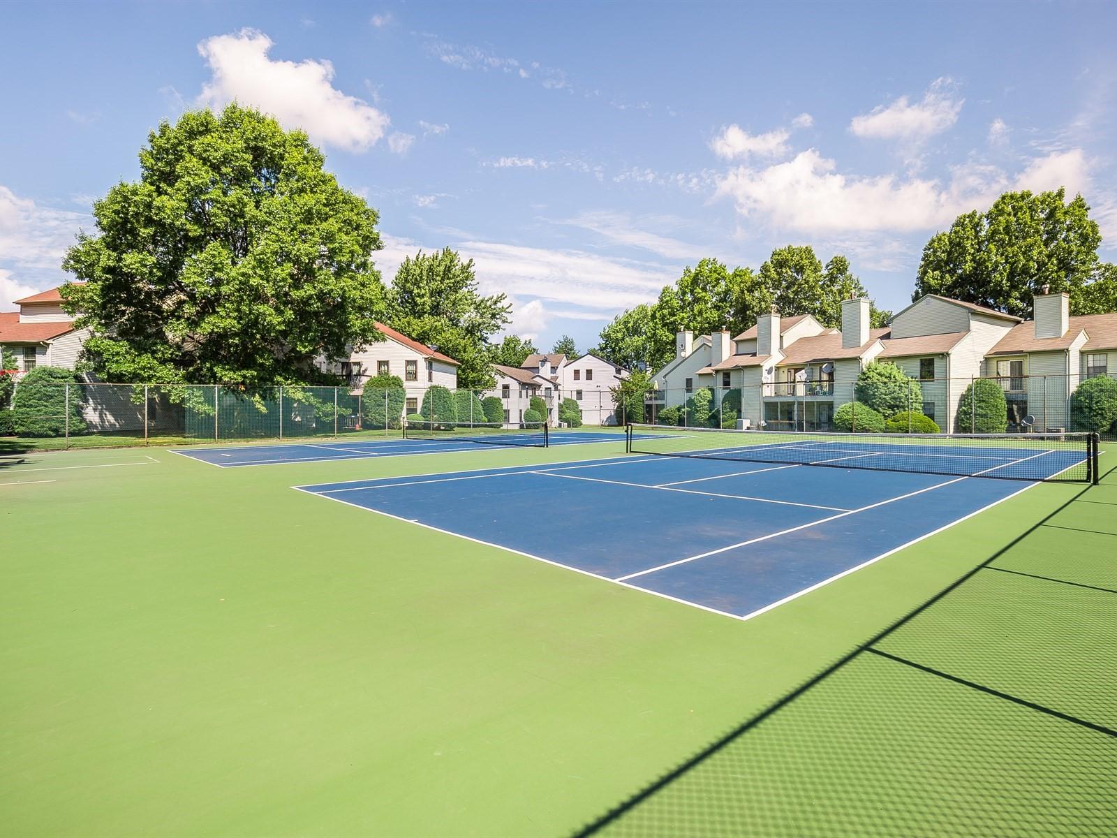 Woodbridge 4 Temporary Housing complex tennis court