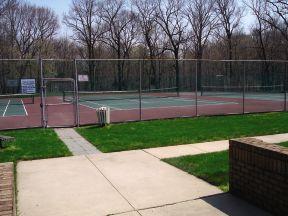 North Brunswick Temporary Housing tennis courts