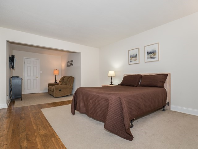 North Brunswick Temporary Housing master bedroom with king sized bed